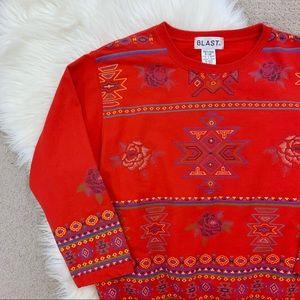 Vintage Boho Aztec Top